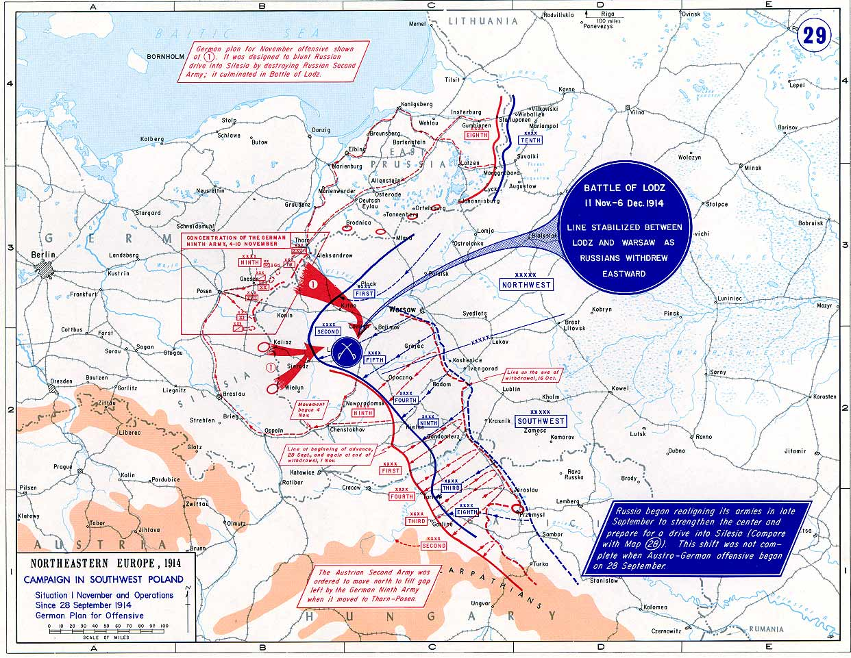 15. oktober 1914. Hemming Skov: Under russisk bombardement.