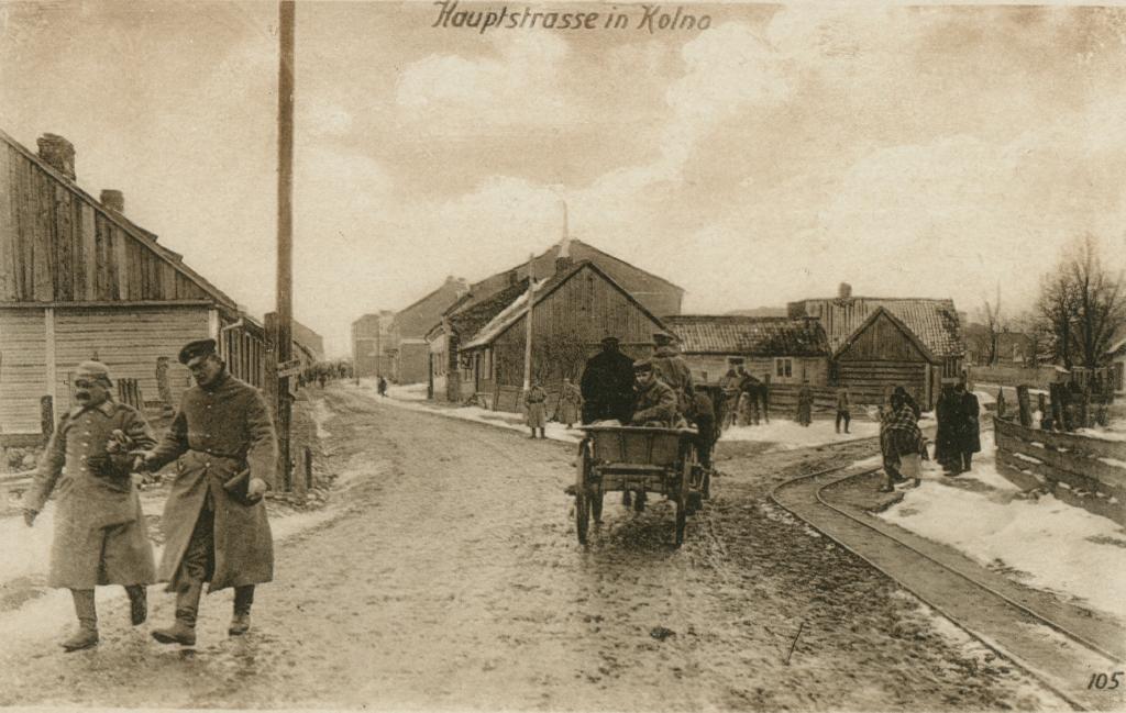 18. oktober 1914. Jeppe Østergaard foran Warzawa.