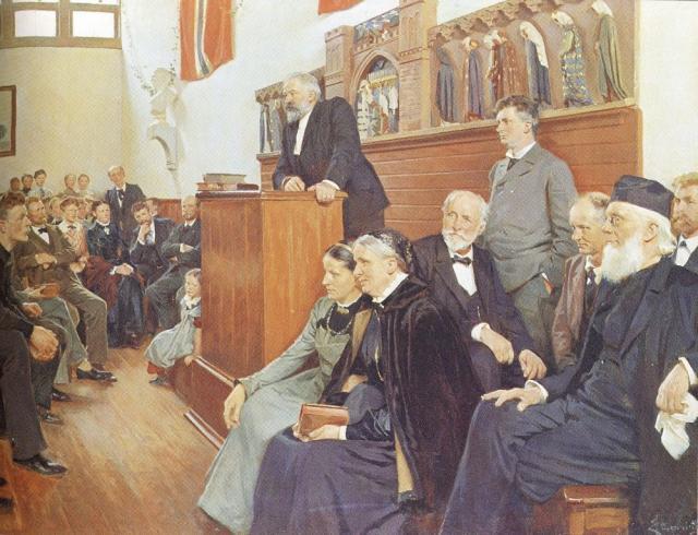 1. november 1914. Kaserne i stedet for højskole til Peter Østergaard.