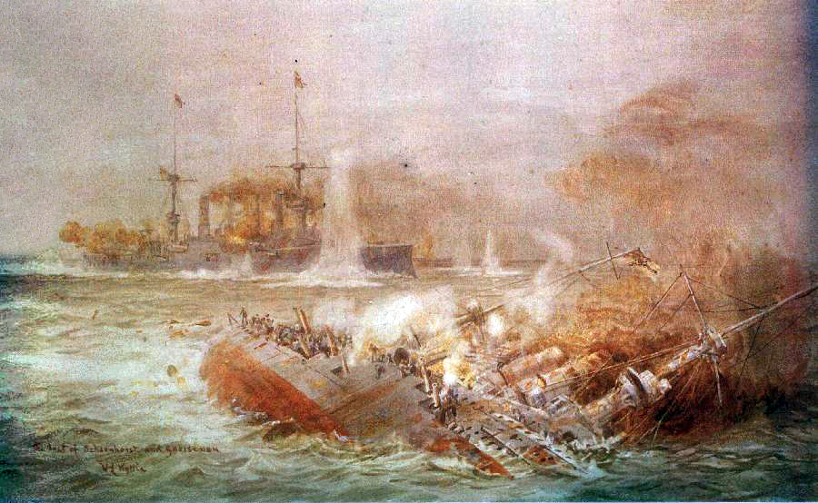 "8. december 1914. ""Ran an den Feind!"" Scharnhorst og Gneisenau går til angreb!"
