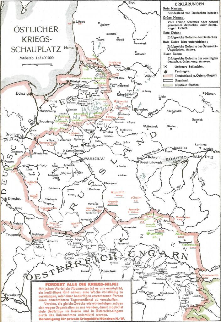 1914-09-23 Krigskort Øst
