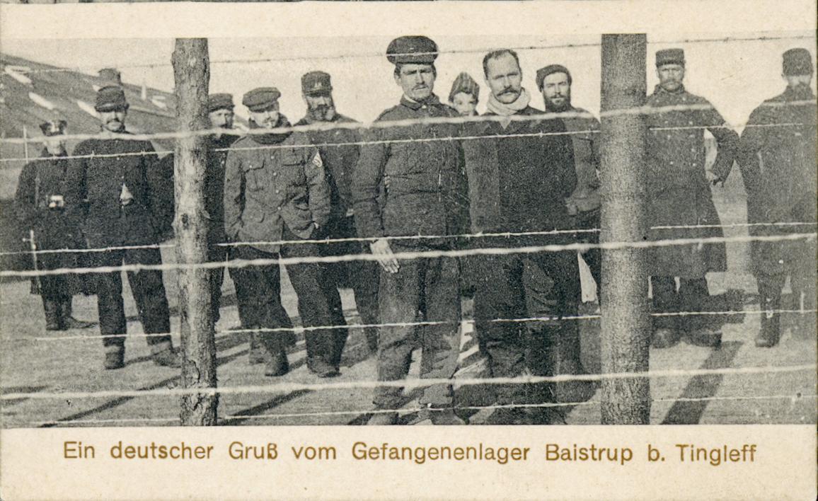 6. juni 1916. Tre russiske krigsfanger i land ved Assens