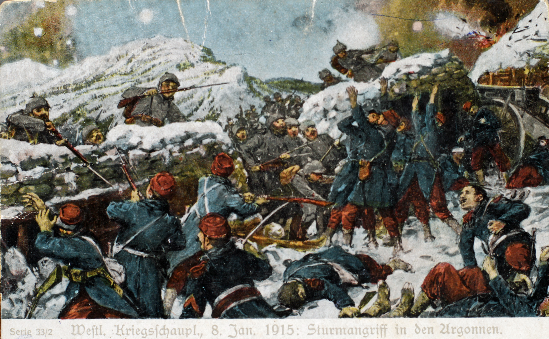 """21. januar 1915. Hartmannsweilerkopf: """"Der udspandt sig en kamp fra træ til træ"""""""