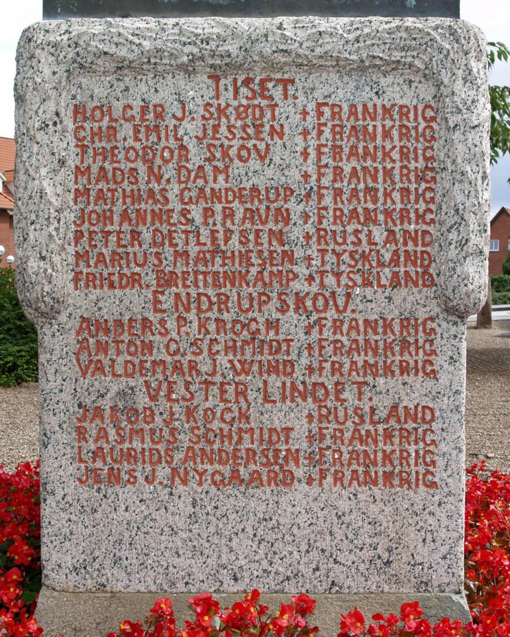 Mindesten, Gram Kirkegård