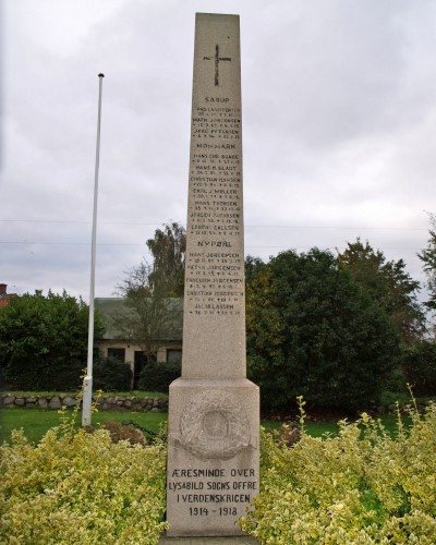 Mindesten, Lysabild Kirkegård