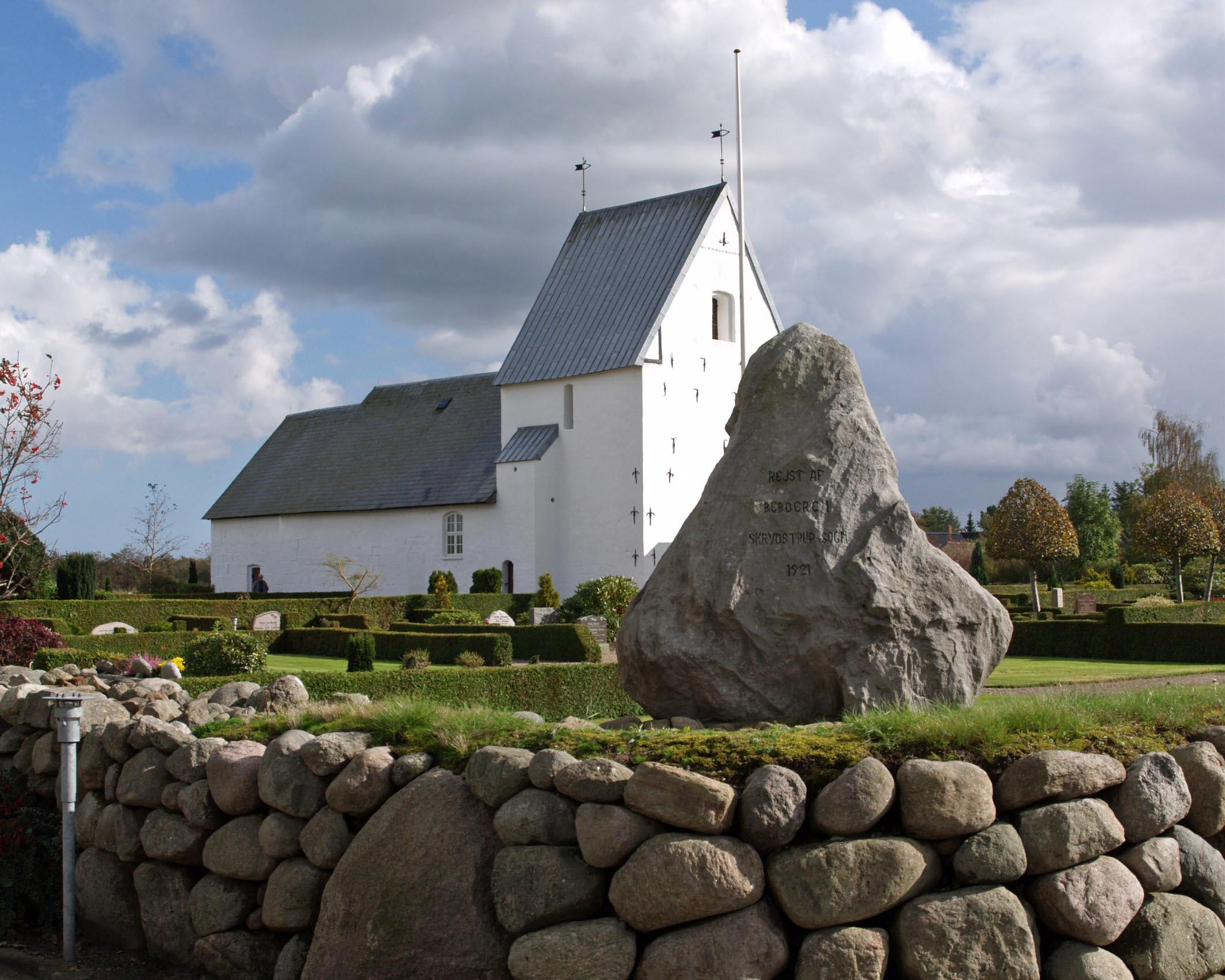 Mindesten, Skrydstrup Kirkegård