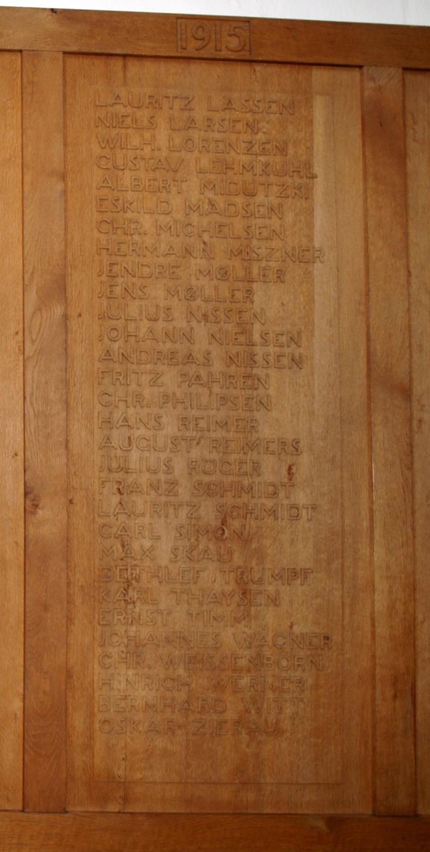 Mindetavle, Skt. Nicolai Kirke, Aabenraa