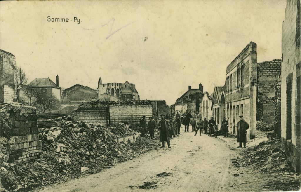 31. marts 1915. Regiment 84 i Somme-Py: Byen er fuldstændig ødelagt.