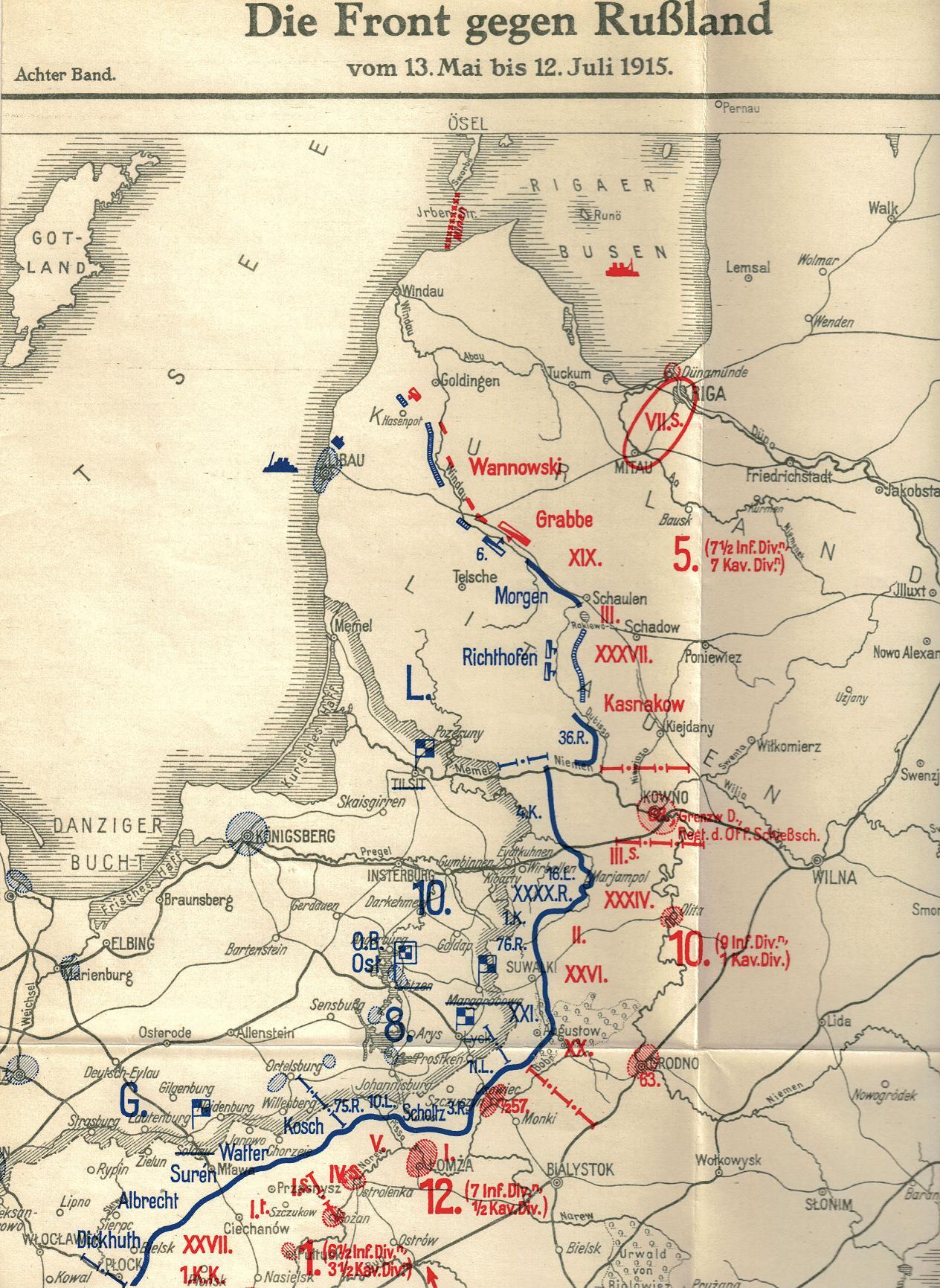 29. april 1915. Angrebsplaner for østfronten
