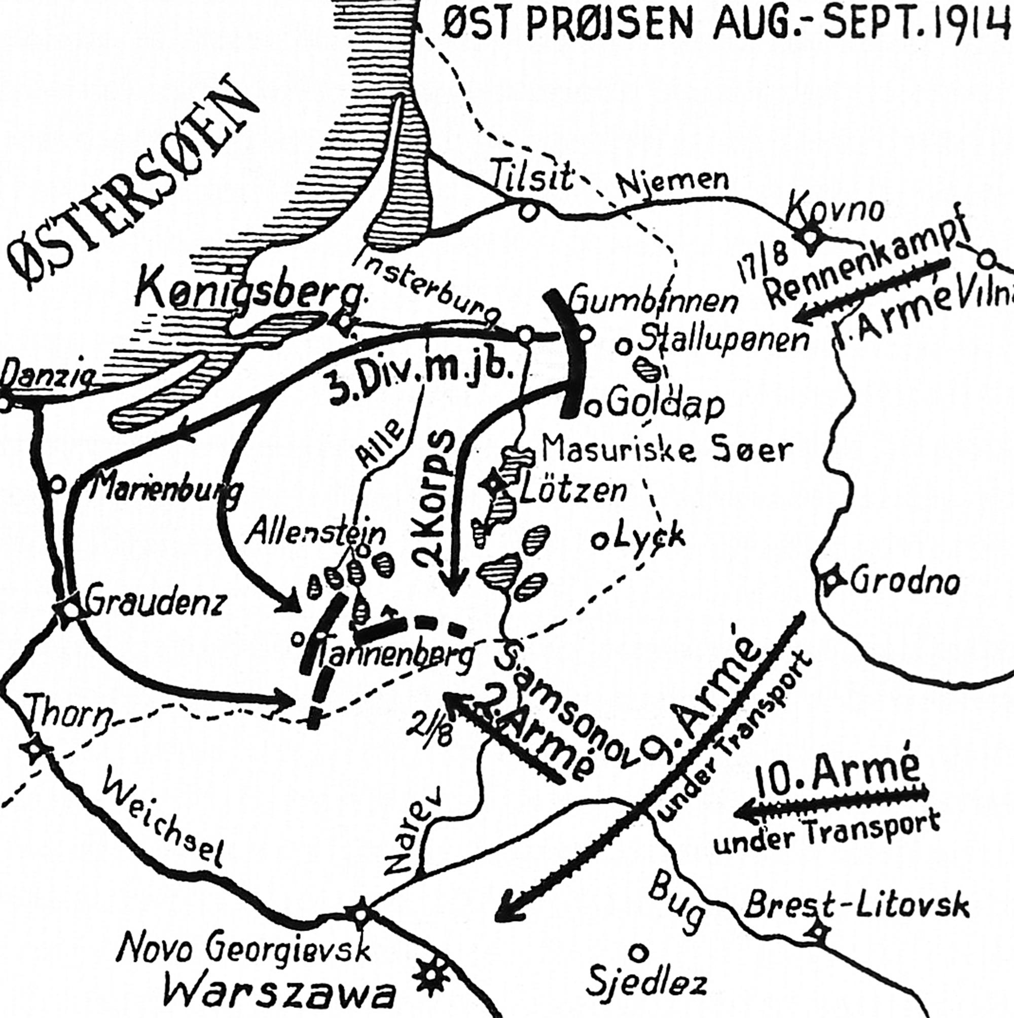 Oversigt Over Krigens Vigtigste Slag Med Kort Den Store Krig