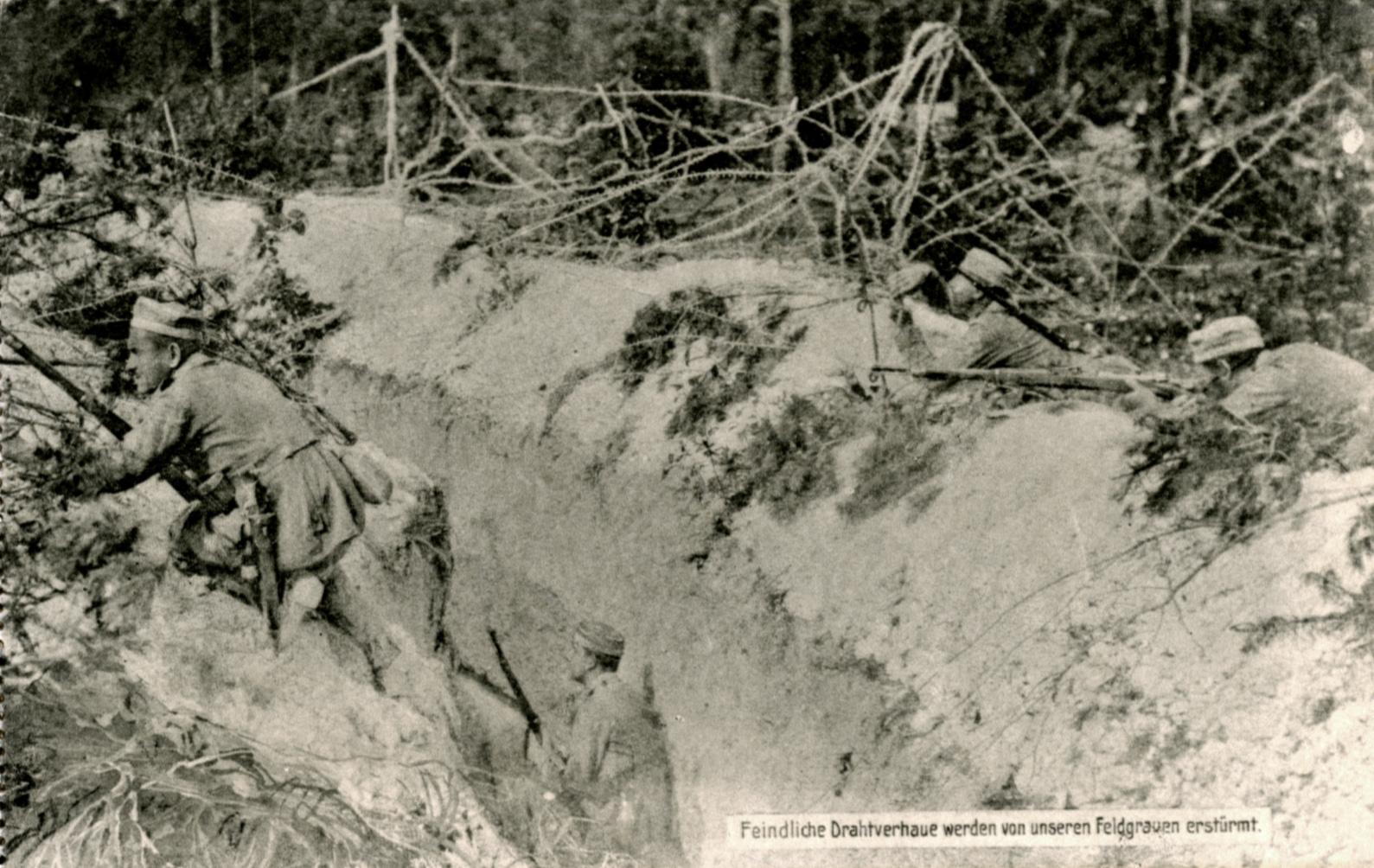 """23. april 1915. Gasangrebet ved Ypres:  """"Det er umuligt at beskrive den tilstand, der herskede her i dødens hule."""""""