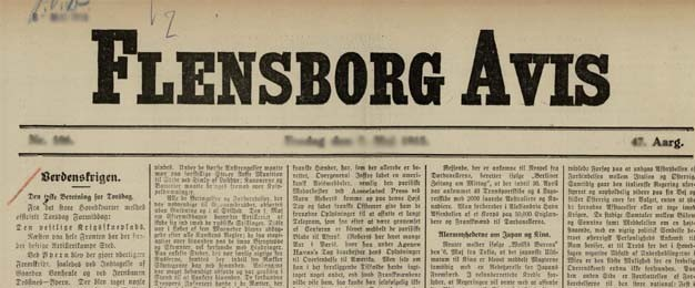 """16. august 1915 – Flensborg Avis: """"Sørgelige Tider"""""""