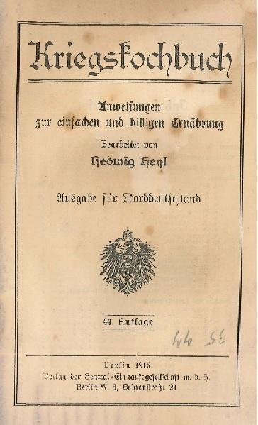 """20. maj 1915 – Krigskogebog: """"forfædrenes simple skikke"""""""