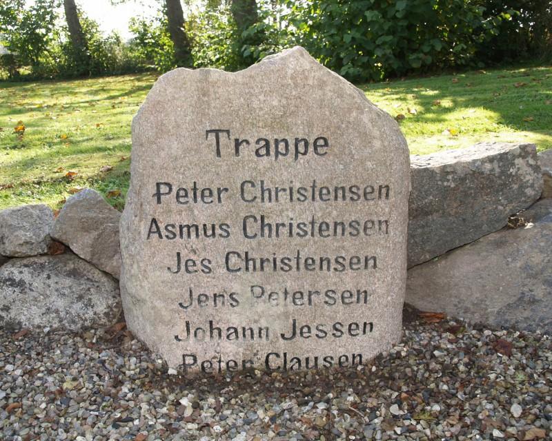 Mindesten, Rinkenæs Gl. Kirkegård
