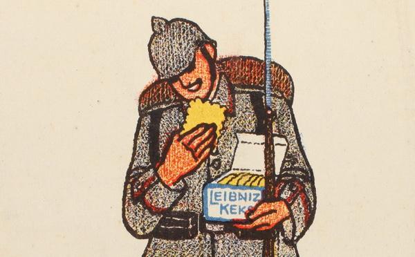 8. juli 1915 – Fra billedsamlingen: En tysker alene med sine Leibniz kiks