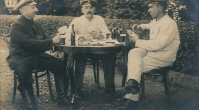 20. august 1915. Hjem på orlov – men rejsepengene er brugt på øl!
