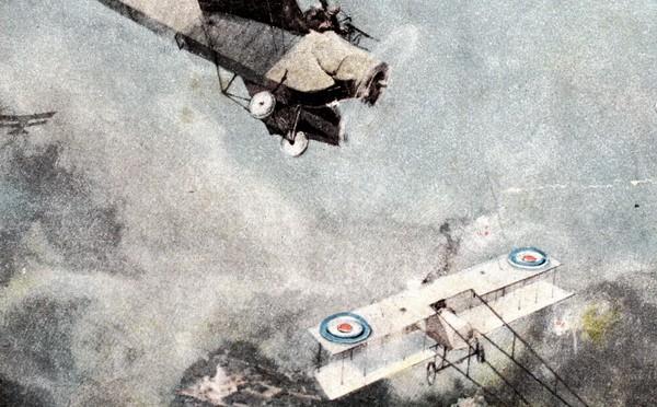 """3. oktober 1918. """"Lufttrykket er så voldsomt, at jeg slår en kolbøtte"""""""
