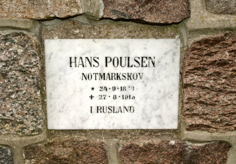 Mindesten, Notmark Kirkegård