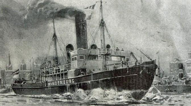 """1. marts 1918. Om bord på isbryderen """"Hindenburg"""""""