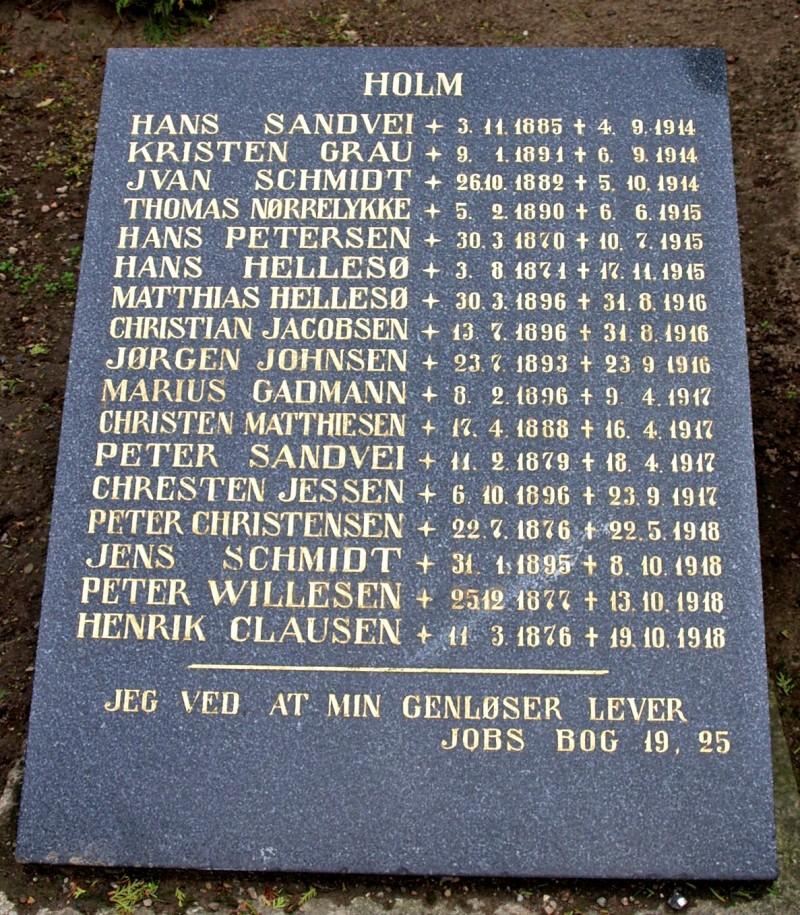 Mindesten, Nordborg Kirkegård