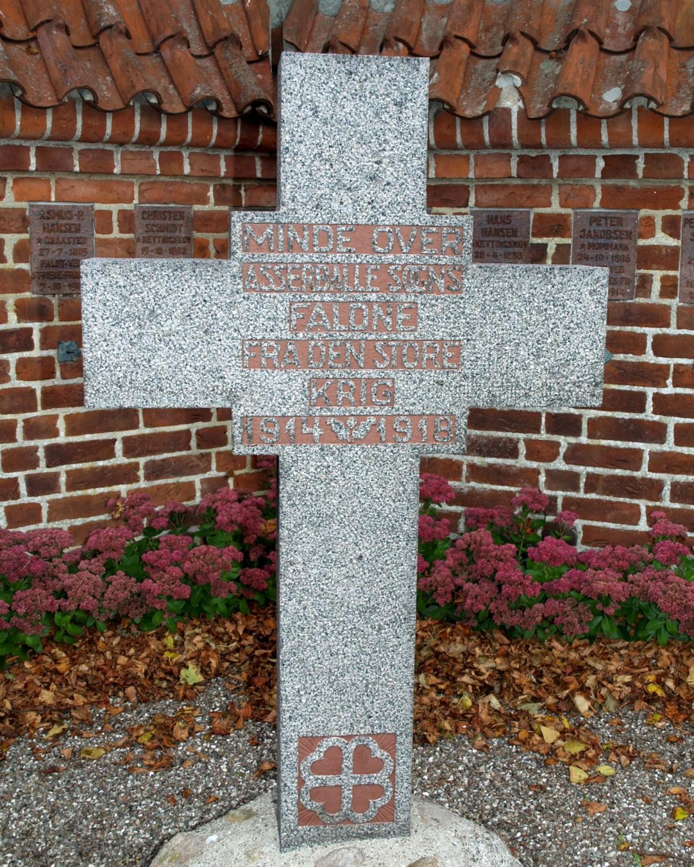 Mindesten, Asserballe Kirkegård