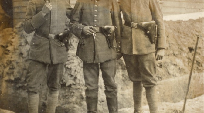 1. august 1918 – Postkort: Tre nordslesvigere