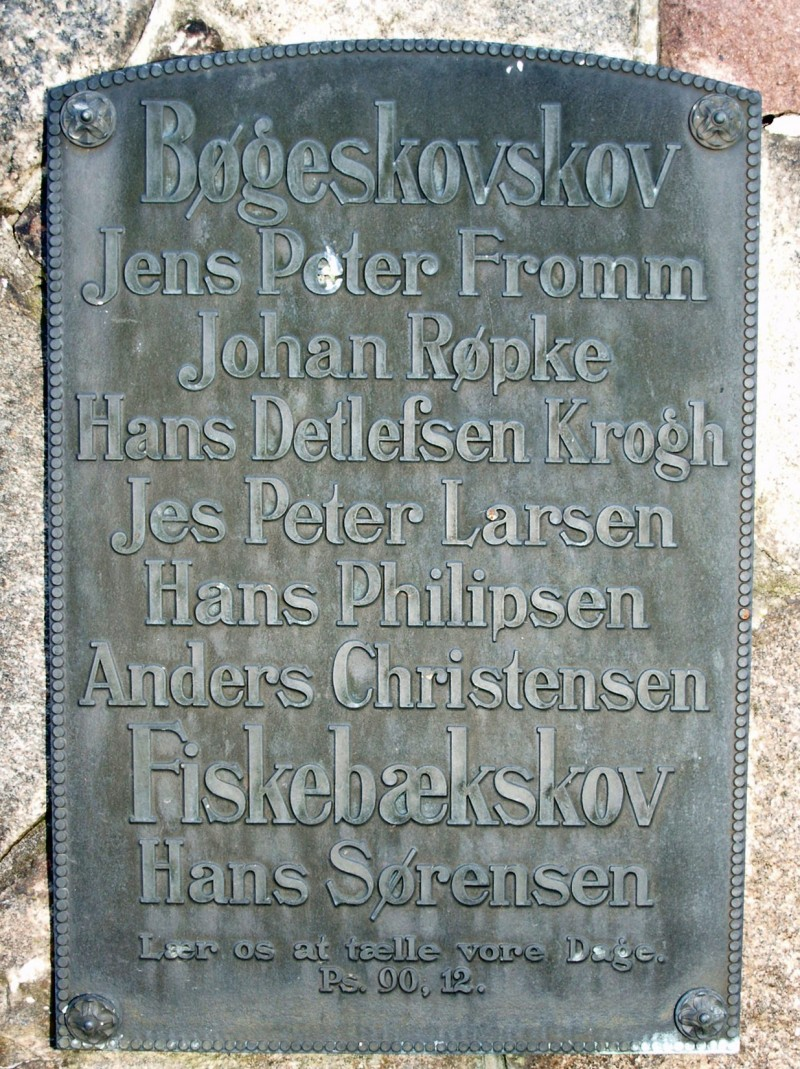 Mindesten, Adsbøl Kirkegård