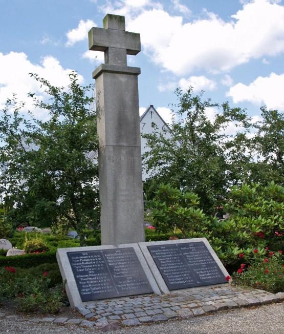 Mindesten, Hoptrup Kirkegård
