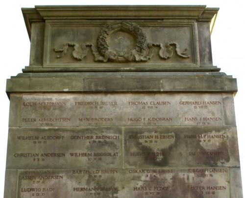 Detalje af mindesten, Skt. Marie Kirke, Sønderborg