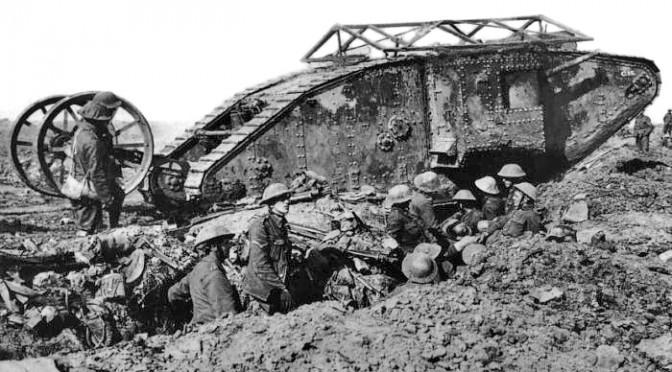 """20. november 1917. Engelske tanks ved Cambrai: """"Uhyrerne kommer stadig nærmere"""""""