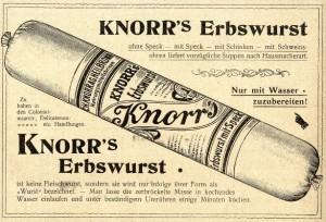 Erbswurst reklame