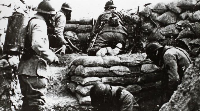"""12. februar 1916. """"Klokken 11 satte modangrebet ind …"""""""