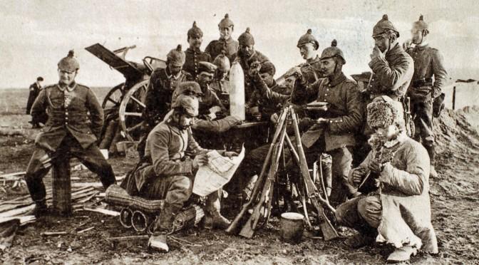 6. august 1917. Artillerist Frederik Tychsen på vej til fronten