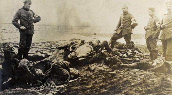 """23. juli 1917. Mathias Møller i hælene på russerne: """"Ligene lå i Grøften, fuldstændigt tilsølede."""""""