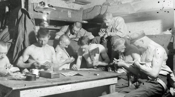 15. august 1917. Handel med tysk udrustning og krig mod lus