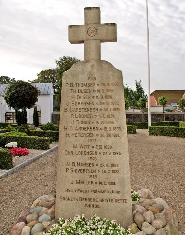Mindesten, Ravsted Kirkegård