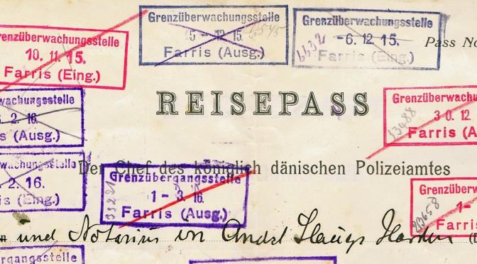 14. februar 1916. Torpedobåde, pas og censur