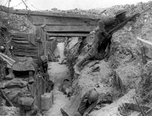 Skyttegrav Somme 1916