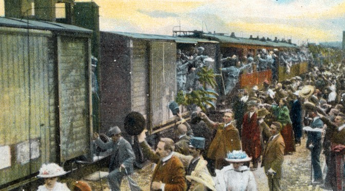 4. december 1916. 110 timer i tog fra Østfront til Vestfront