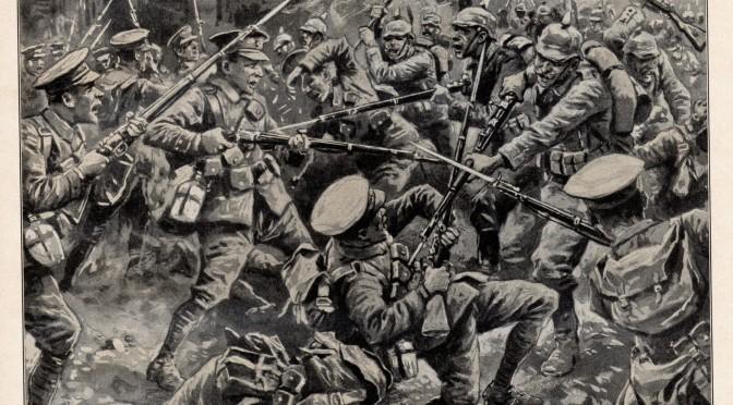 """24. august 1914. Slaget ved Mons. """"Med min bajonet mellem ribbenene sank han sammen med en stønnende lyd."""""""