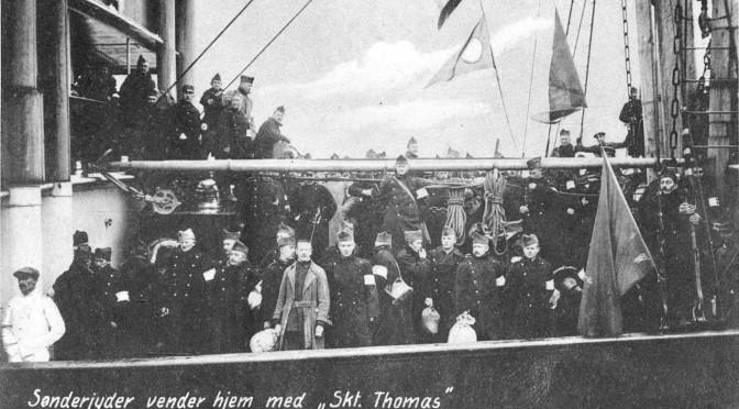 18. marts 1919. Filmklip: S/S Ficaria ankommer til København med sønderjyske krigsfanger