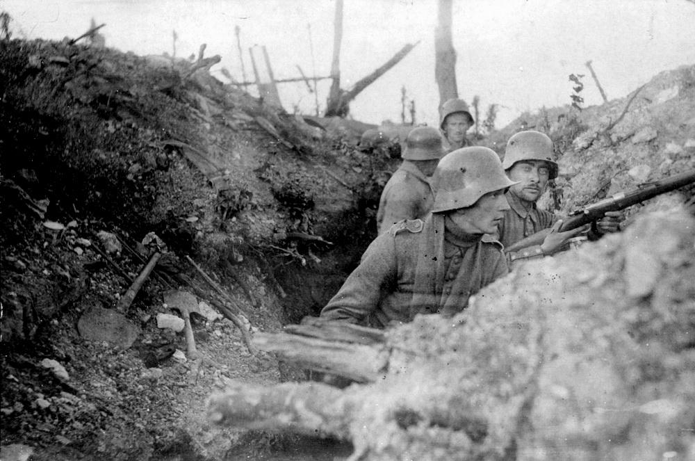Skyttegrav ved Verdun (Historisk Arkiv for Haderslev Kommune)