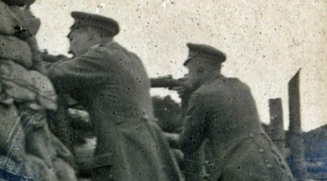 """4. januar 1919. I kamp på en banegård i Ukraine! """"Russerne skød fra en Række Træskure i nærheden af Stationen"""""""
