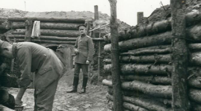 20. juli 1917. Mathias Møller i beredskabsstilling på Østfronten