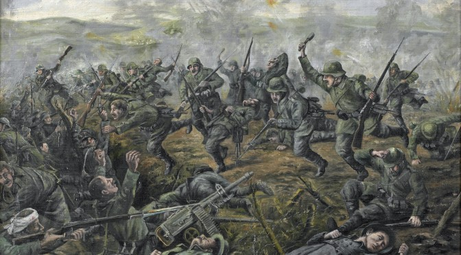 """12. februar 1916. Angreb: """"En forbitret nærkamp begyndte …"""""""