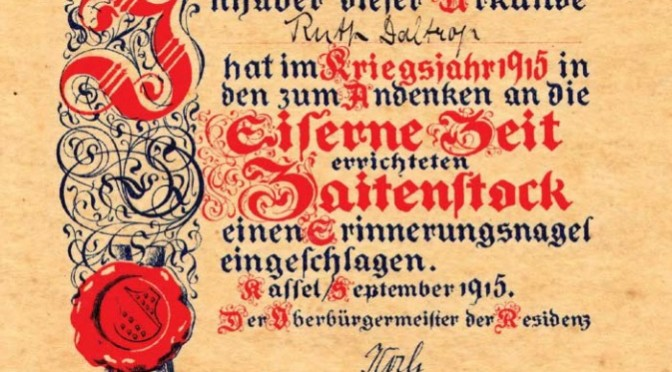 25. maj 1916. H.C. Brodersen som preusser i Hessen