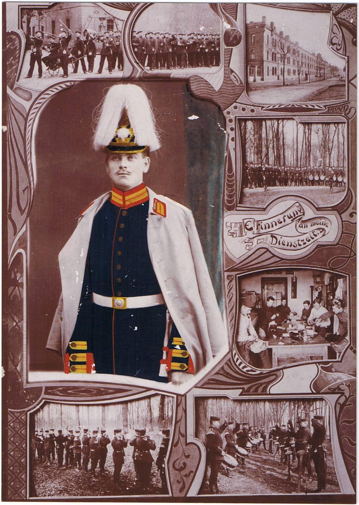 Johannes M. Oldenburg - formodentlig fotograferet efter afsluttet værnepligt. Foto i privateje.
