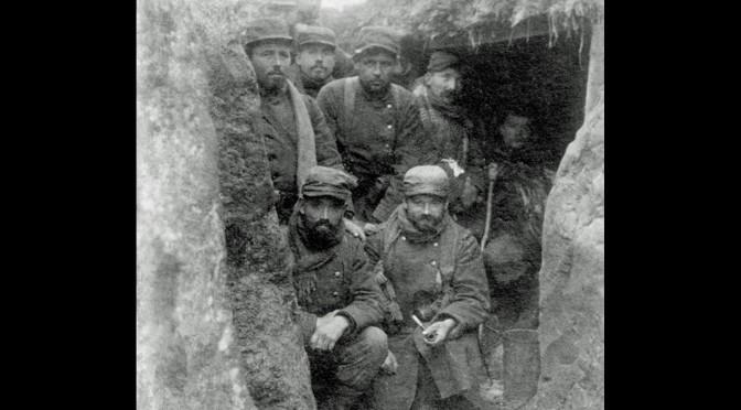 """22. september 1914. """"Franskmændene gravede sig ned i respektfuld afstand."""""""