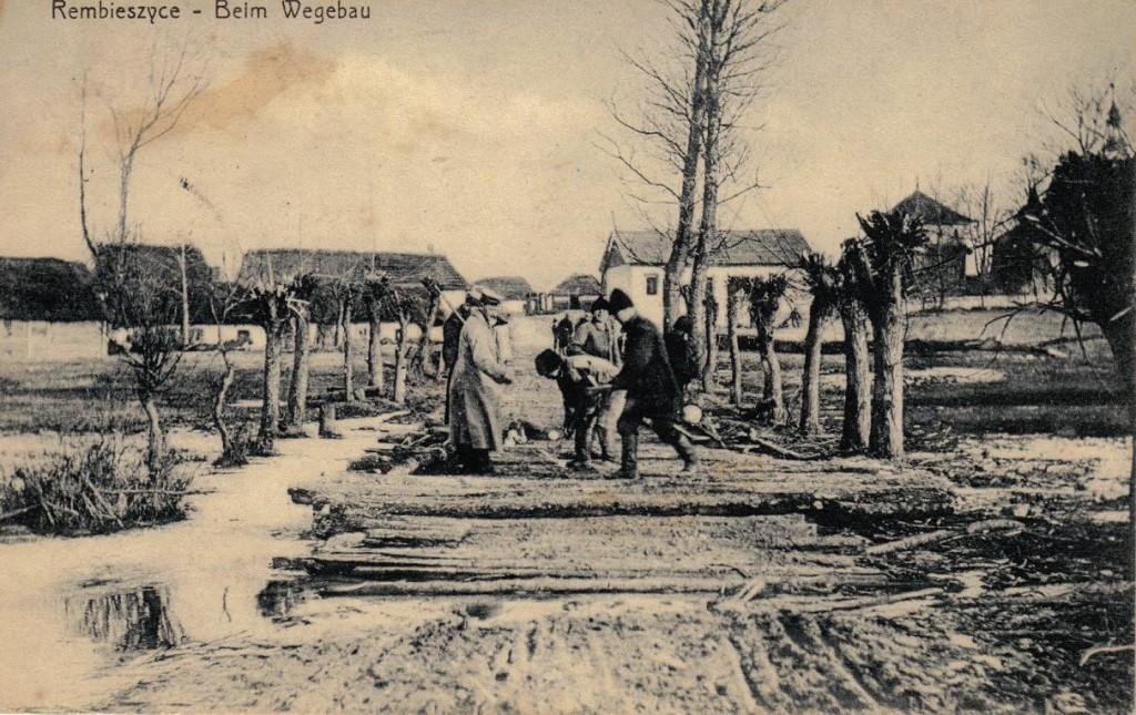 1916-04-06 LIR84 Otto Theodor Wagner - Rembieszyce - Beim Wegebau