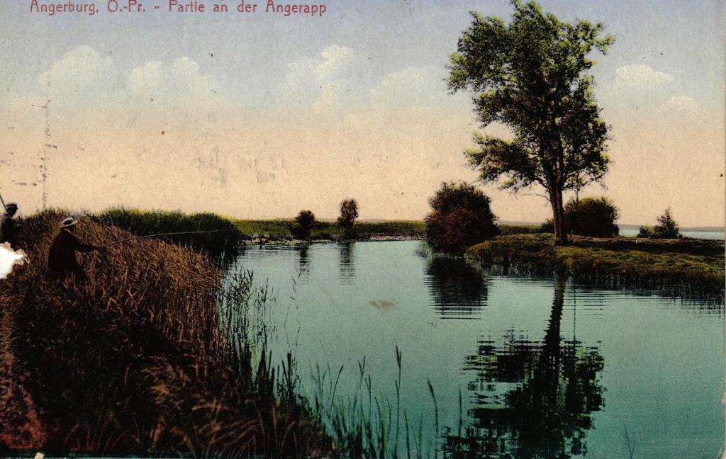 1916-04-13 LIR84 Otto Theodor Wagner - Angerburg. O. - Pr. - Partie an der Angerapp